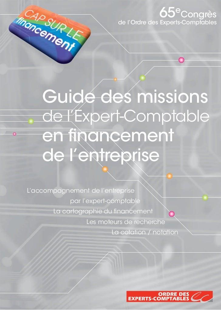 65eCongrès                           de l'Ordre des Experts-Comptables    Guide des missions    de l'Expert-Comptable    e...