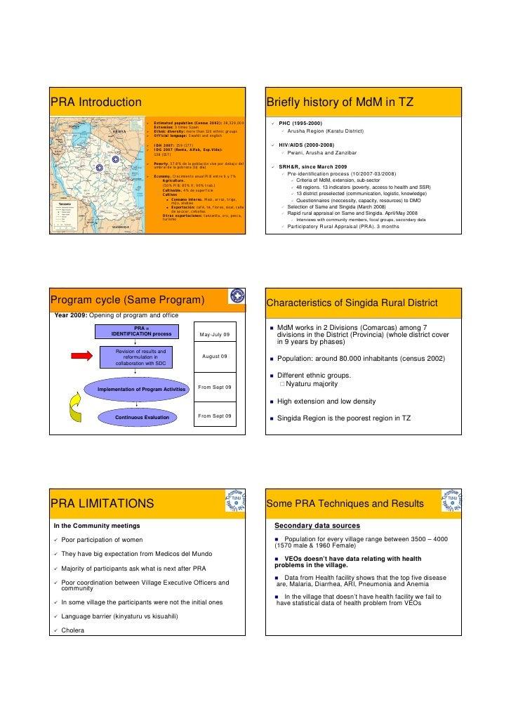 Diagnóstico rural participativo (Tanzania)