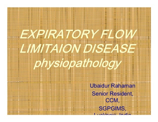 Expiratory flow limitation_diseases