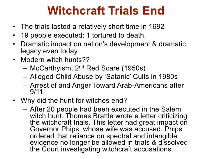 salem hunt essay Essay about the crucible by arthur miller the crucible was based in 1692 in and around the town of salem, massachusetts, usa the salem witch-hunt was view as one of the strangest and most horrendous chapters in the human history.