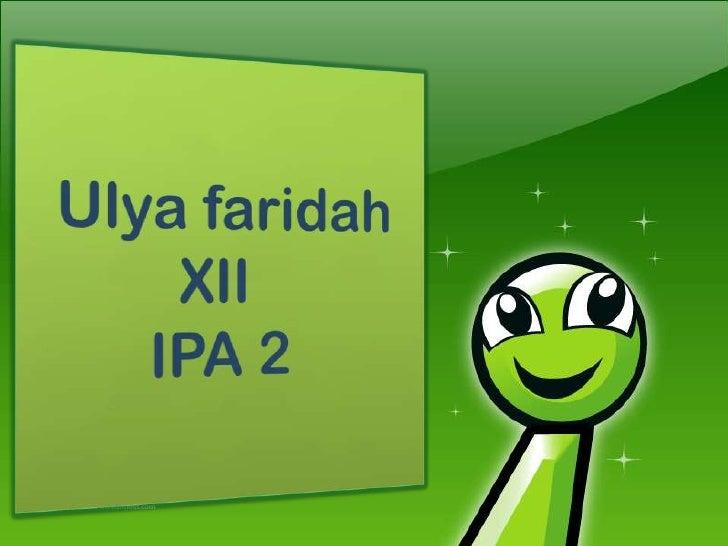 Explanation by ulya faridah