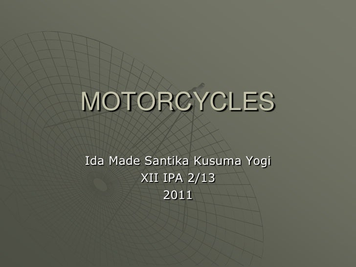 Explanation by yogi motorcycles