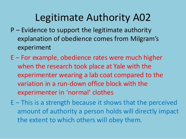 the legitimate authority theory essay This essay will take a closer look at the issue of authority within traditional authority, however, legitimacy can be either extremely schema theory.