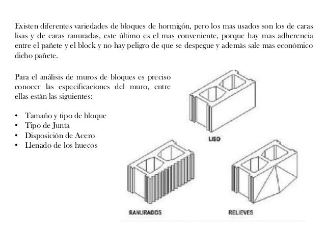 Explicaci n sobre los tipos de muros for Bloques de hormigon baratos