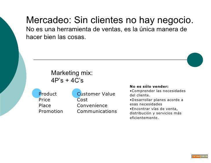 Mercadeo: Sin clientes no hay negocio.  No es una herramienta de ventas, es la única manera de hacer bien las cosas. Marke...