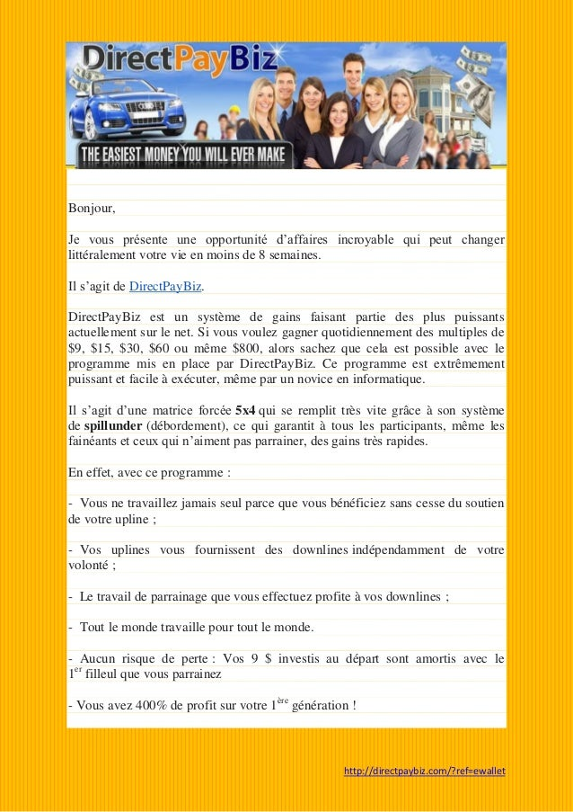 Explication de DirectPayBiz