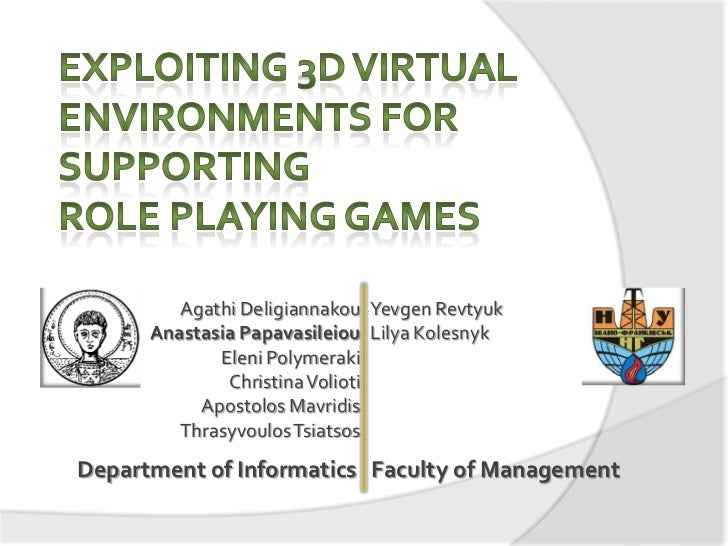 Exploiting 3D virtual environments