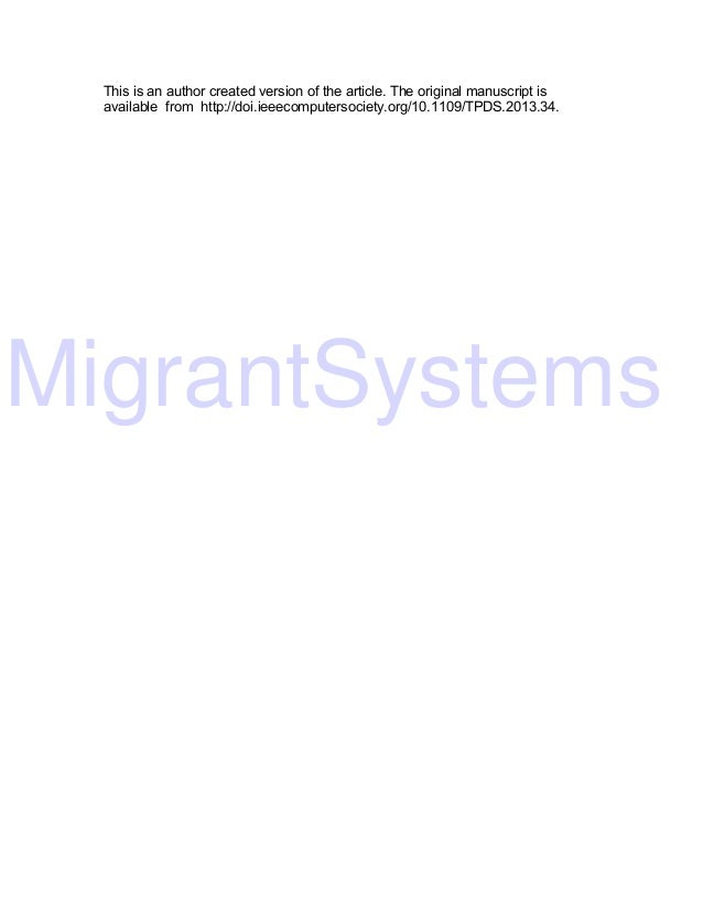 MigrantSystems This is an author created version of the article. The original manuscript is available from http://doi.ieee...