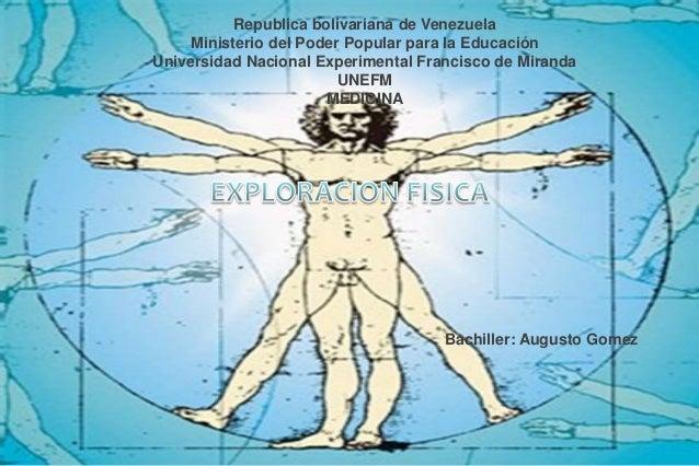 Republica bolivariana de Venezuela Ministerio del Poder Popular para la Educación Universidad Nacional Experimental Franci...