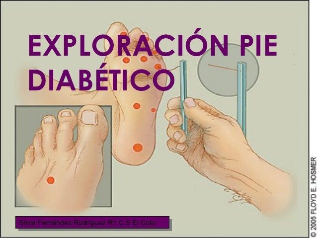 Exploracion pie diabetico