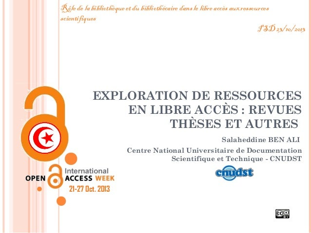 Exploration de ressources en libre accès
