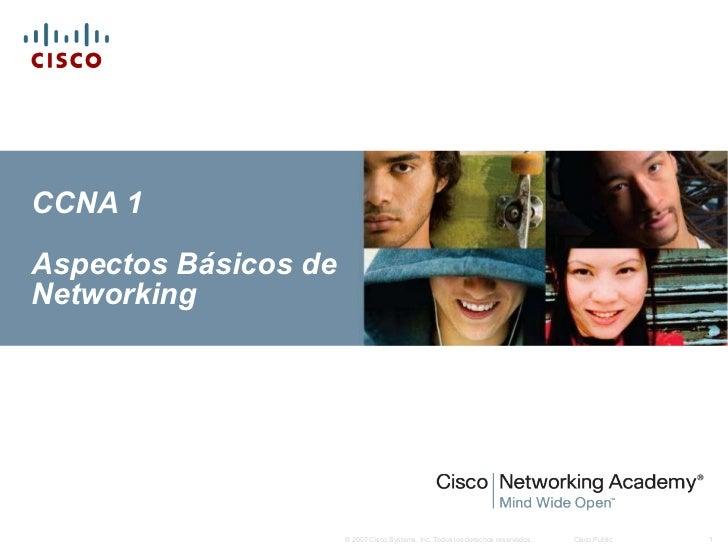 CCNA 1 Aspectos Básicos de Networking