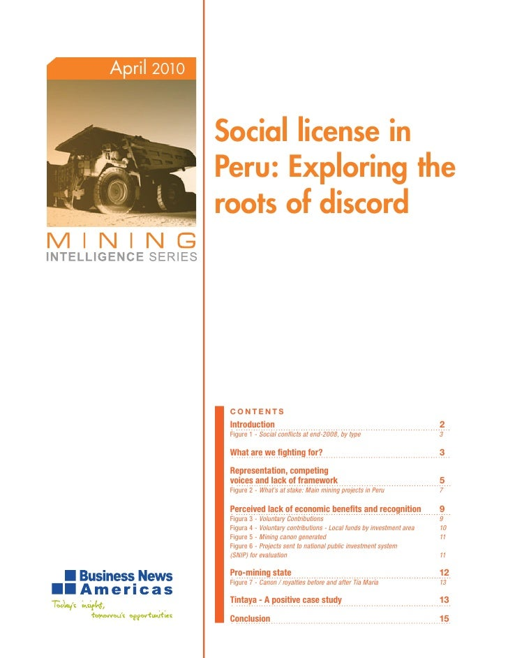 Exploration social licence in peru