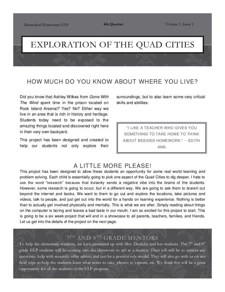 Explorations of the quad cities