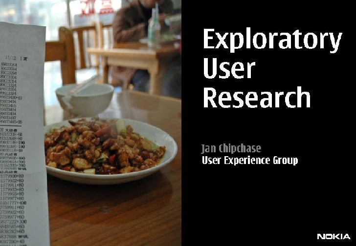 Exploratory User Research