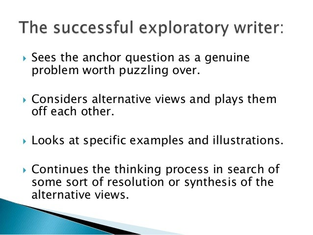 Writing An Exploratory Essay