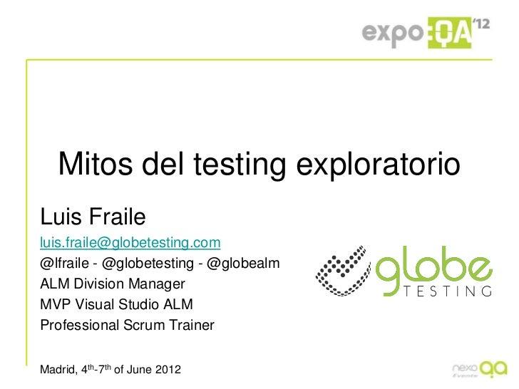 Mitos del testing exploratorio