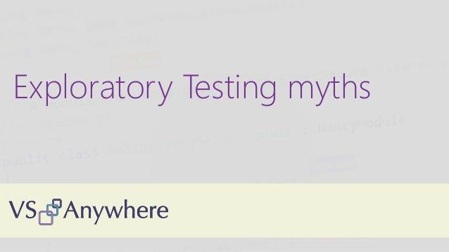 Exploratory Testing myths