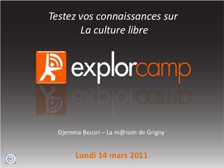 Nom de la table d'exploration Sensibiliser des jeunes collégiens sur l'IDentité Numérique Djemma Bousri – La  [email_addre...