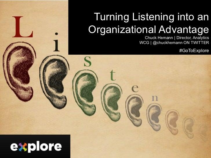 Turning Listening into an Organizational Advantage