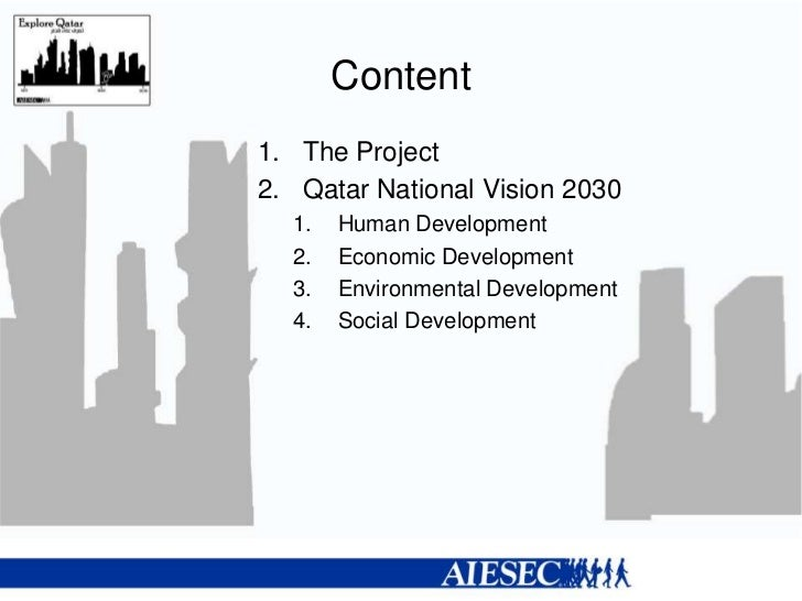 qatar national vision 2030 economics essay Qatar's permanent constitution and national vision 2030 constituted the turning  point  and dissemination, and promotion of human socio-economic  development  the aim of this paper is threefold: outline the main features of  qatar society,.