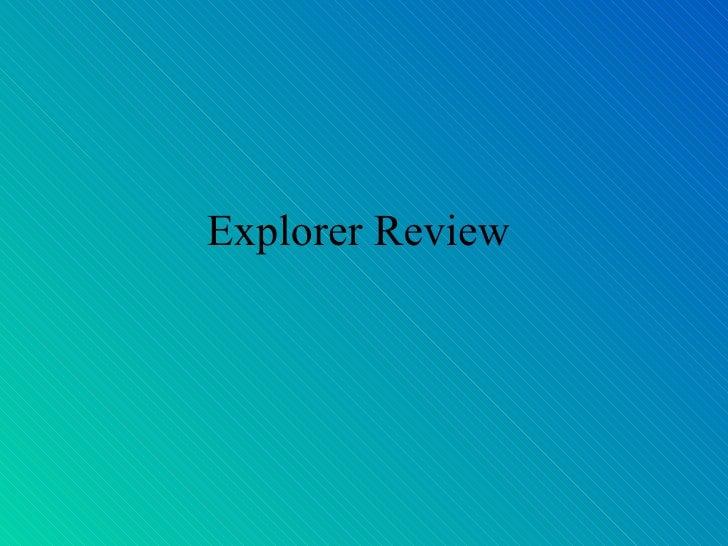 Explorer Who Am I