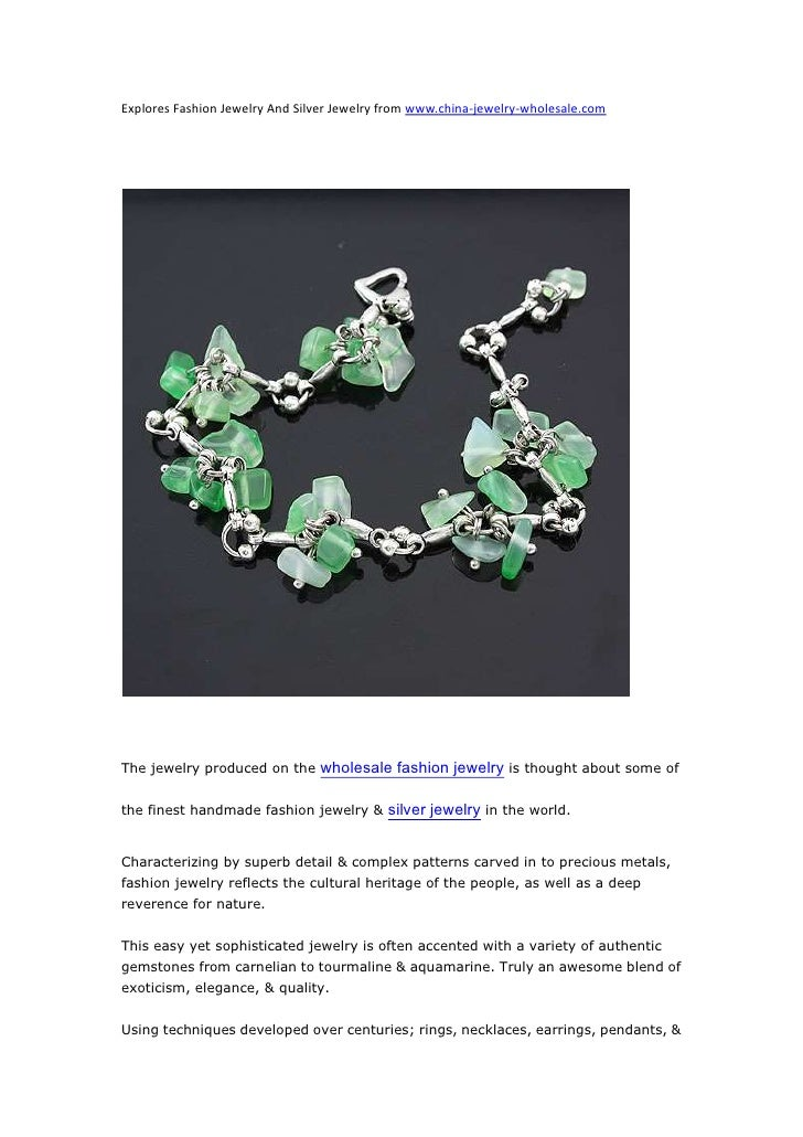 Explores Fashion Jewelry And Silver Jewelry from www.china-jewelry-wholesale.com<br />The jewelry produced on the wholesal...