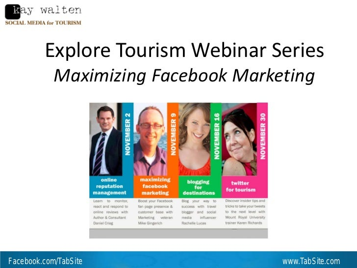 Explore Tourism: Facebook Marketing for the Hospitality and Destination Industries