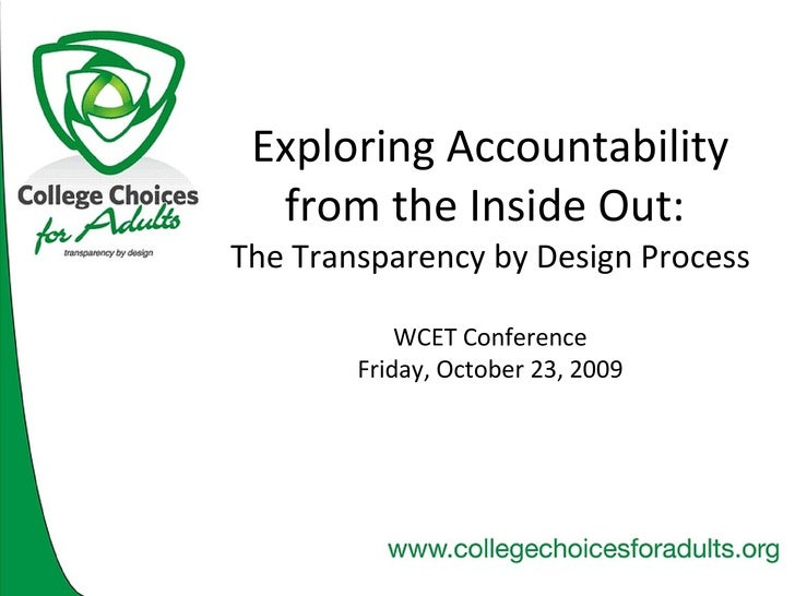 Exploring Accountability From The Inside Out   Wcet 09