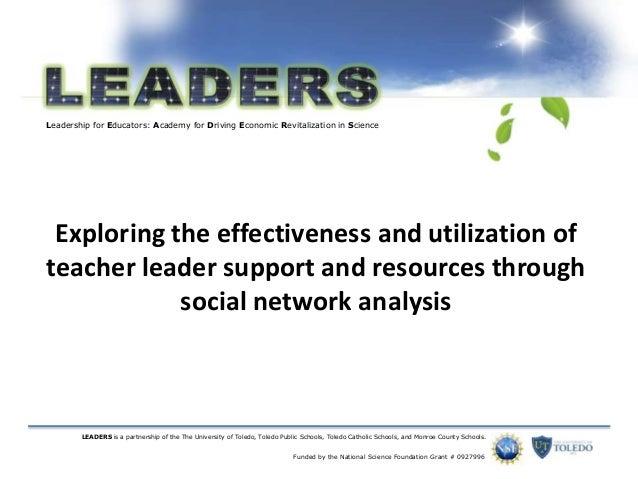 Exploring effectiveness of teacher leader support