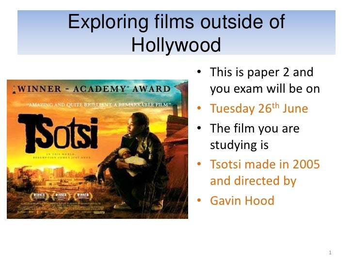Exploring films outside of       Hollywood               • This is paper 2 and                 you exam will be on        ...