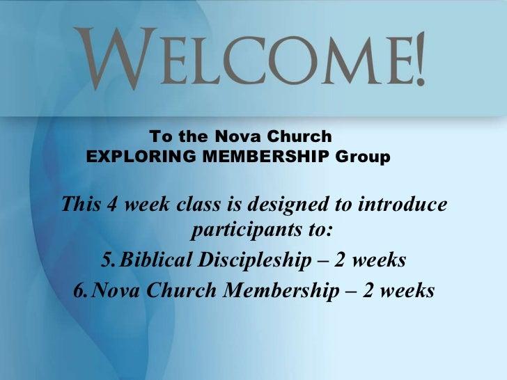 <ul><li>This 4 week class is designed to introduce participants to: </li></ul><ul><li>Biblical Discipleship – 2 weeks </li...