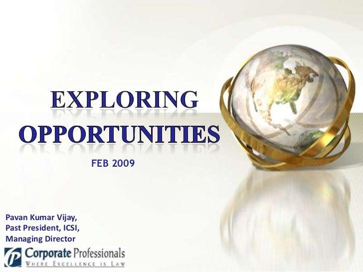 Exploring opportunities   smtp - feb 2009