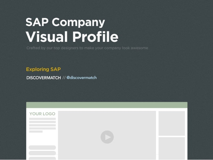 Exploring SAP - DiscoverMatch Visual Profile