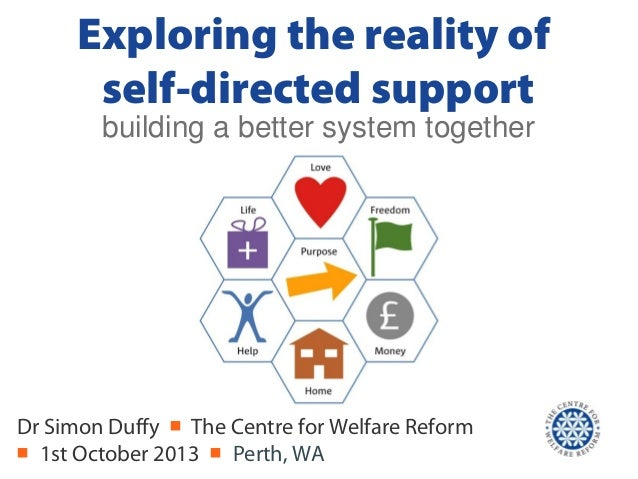 Exploring the reality of self-directed support Dr Simon Duffy ■ The Centre for Welfare Reform ■ 1st October 2013 ■ Perth, ...