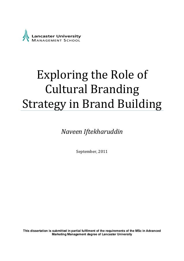 brand building dissertation If you are interested to do a thesis / dissertation on a topic bollywood spokesperson bollywood thesis brand building brand identity brand management brand.