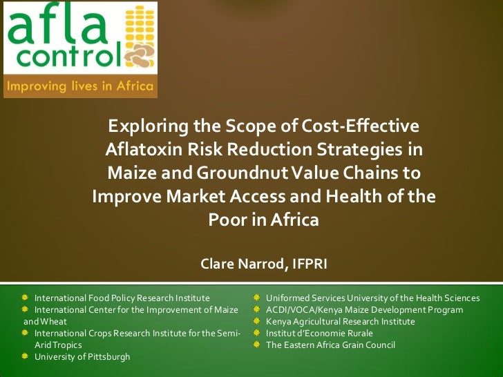 Exploring the scope of cost effective aflatoxin risk reduction strategies