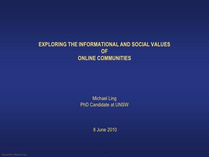 Social Media - online communities