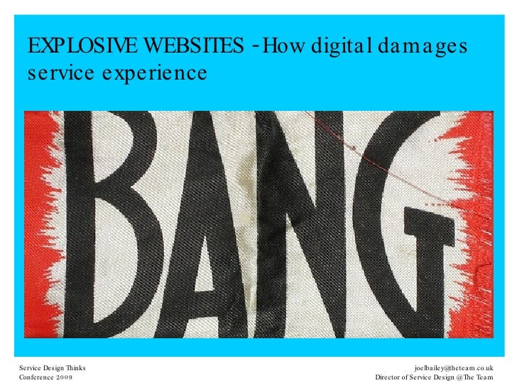 EXPLOSIVE WEBSITES - How digital damages service experience