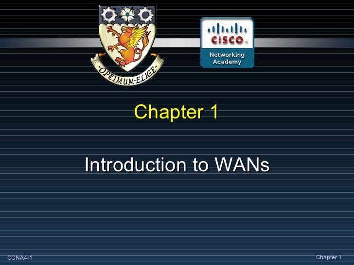 Chapter 1 Introduction to WANs