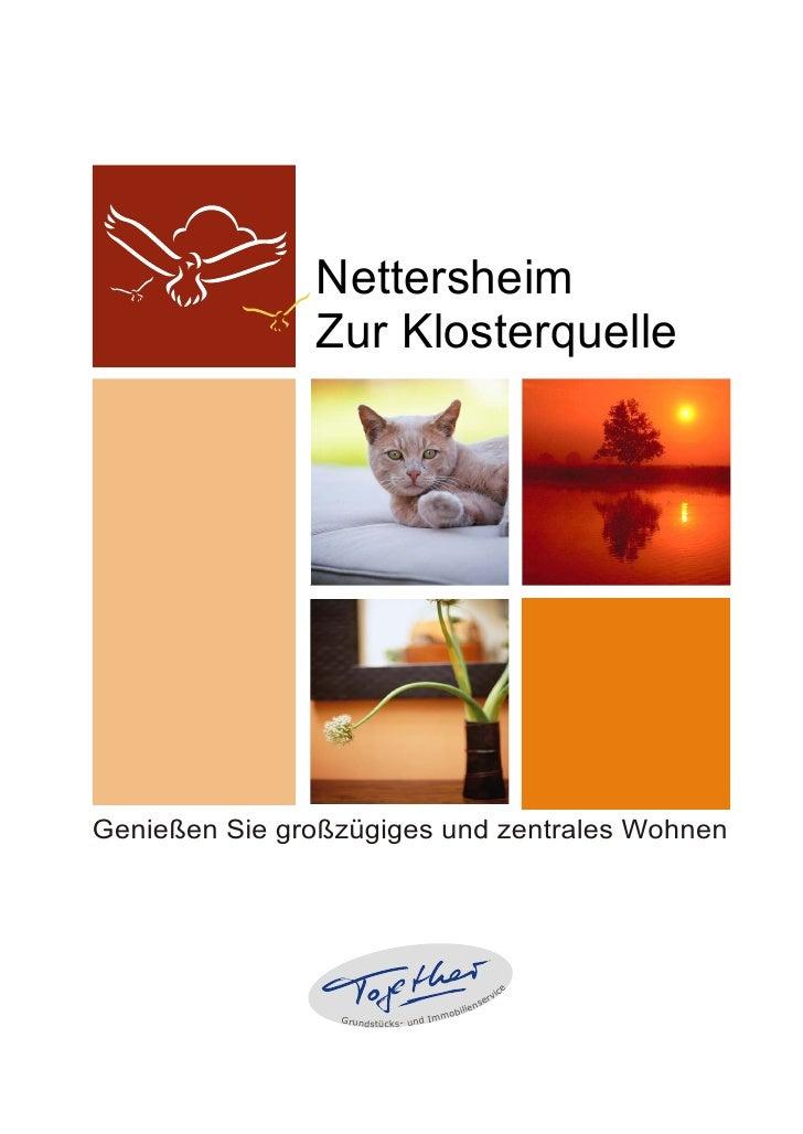 Nettersheim                Zur Klosterquelle     Genießen Sie großzügiges und zentrales Wohnen                            ...