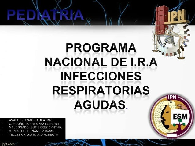 infecciones respiratorias agudas.