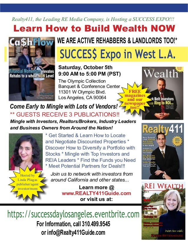 ** GUESTS RECEIVE 3 PUBLICATIONS!! Mingle with Investors, Realtors/Brokers, Industry Leaders and Business Owners from Arou...