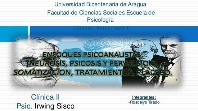 Universidad Bicentenaria de Aragua Facultad de Ciencias Sociales Escuela de Psicología Cátedra Tratamiento II Integrantes:...