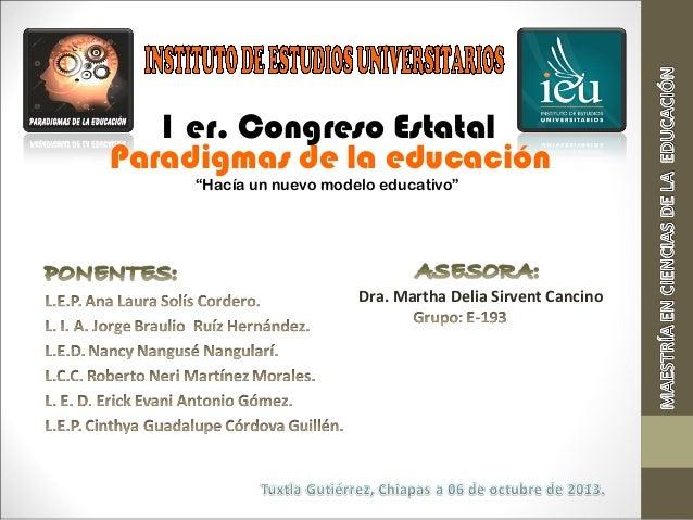 Expo congreso paradigmas de la educación