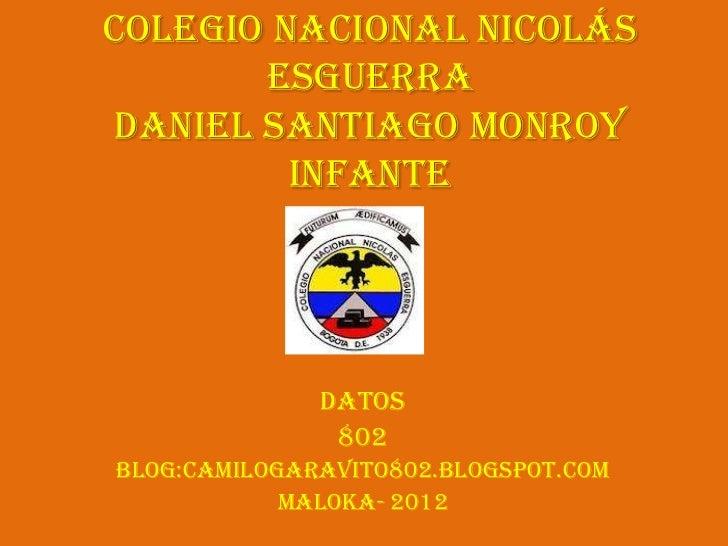 Colegio Nacional Nicolás       Esguerradaniel Santiago Monroy         Infante              datos               802Blog:cam...