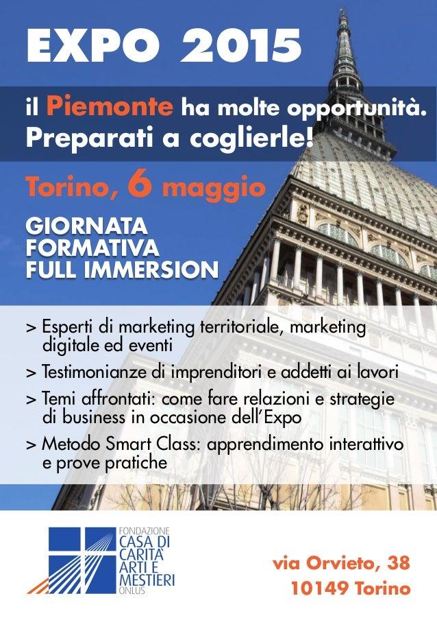 Expo 2015: giornata full immersion - Torino 6 maggio