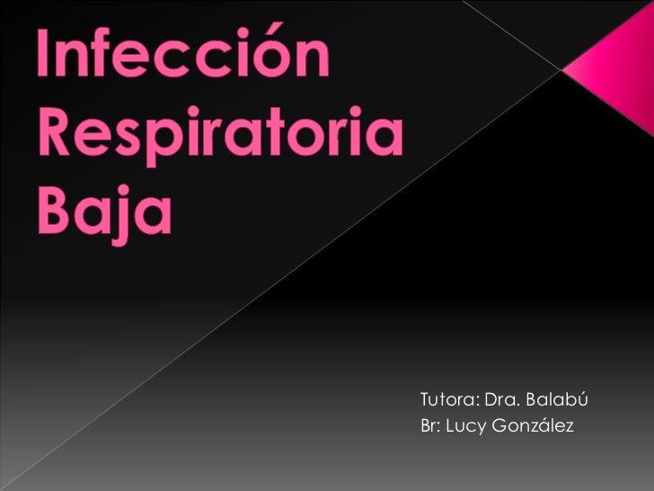 infección respiratoria baja caso clínico