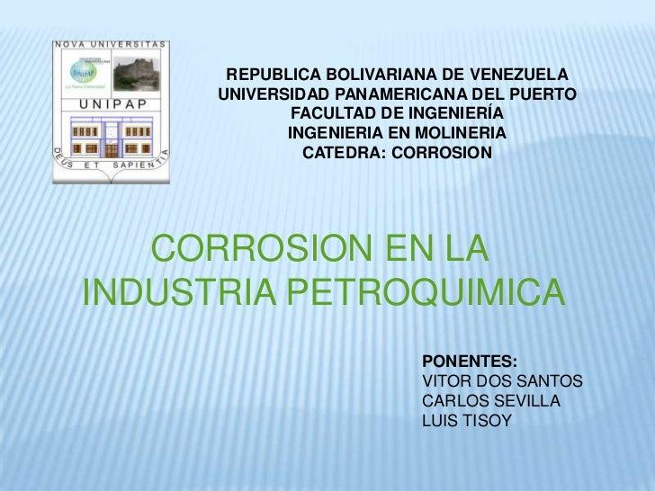 corrosion en la industria petroquimica
