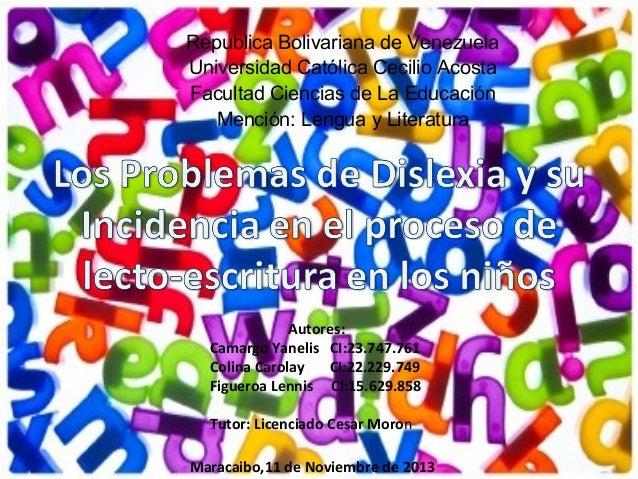 Republica Bolivariana de Venezuela Universidad Católica Cecilio Acosta Facultad Ciencias de La Educación Mención: Lengua y...